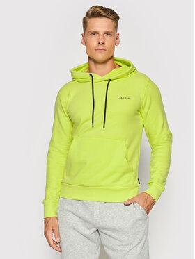 Calvin Klein Calvin Klein Bluza Small Chest Logo K10K107165 Zielony Regular Fit