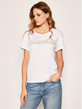 Napapijri Napapijri T-Shirt Siccari NP0A4E3W0 Biały Regular Fit