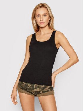Guess Guess Marškinėliai Perfect Rib W1YI08 RA0H1 Juoda Slim Fit