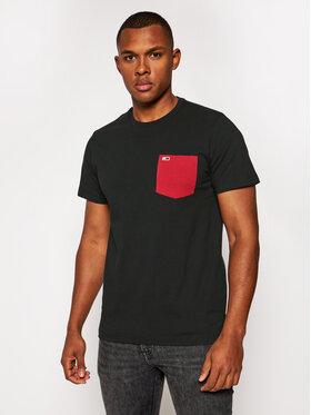 Tommy Jeans Tommy Jeans Тишърт Tjm Contrast Pocket Tew DM0DM09370 Черен Regular Fit