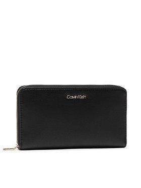 Calvin Klein Calvin Klein Голям дамски портфейл Z/A Wallet Xl Saffiano K60K608312 Черен