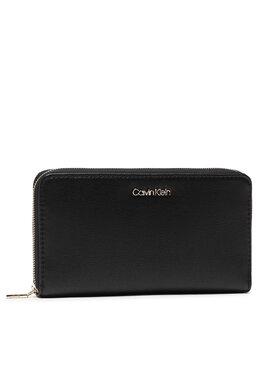 Calvin Klein Calvin Klein Veliki ženski novčanik Z/A Wallet Xl Saffiano K60K608312 Crna