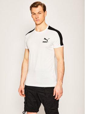 Puma Puma T-Shirt Iconic T7 581558 Biały Slim Fit
