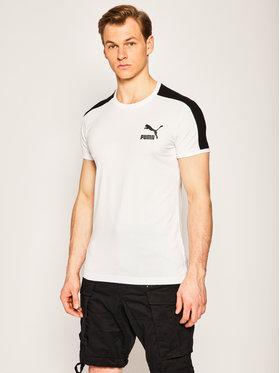 Puma Puma T-Shirt Iconic T7 581558 Weiß Slim Fit