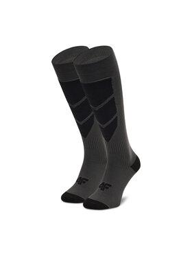 4F 4F Високі чоловічі шкарпетки H4Z20-SOMN004 Сірий