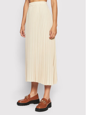 Selected Femme Selected Femme Plisovaná sukňa Falexis 16073773 Béžová Regular Fit