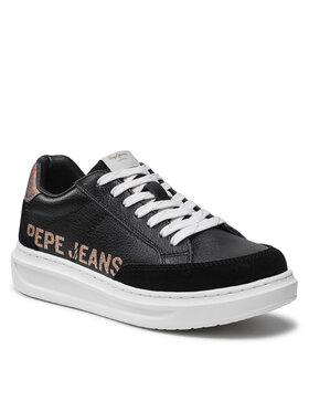 Pepe Jeans Pepe Jeans Sneakersy Abbey Willy PLS31196 Černá