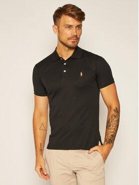 Polo Ralph Lauren Polo Ralph Lauren Тениска с яка и копчета Ssl-Knt 710685514002 Черен Slim Fit
