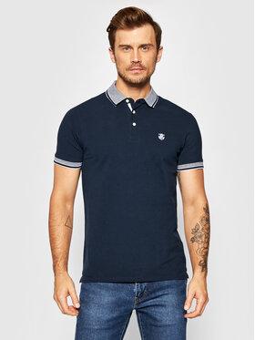 Selected Homme Selected Homme Тениска с яка и копчета Twist 16065598 Тъмносин Regular Fit