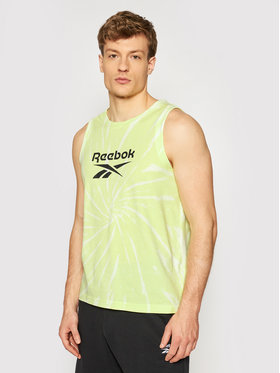 Reebok Reebok Tank top marškinėliai Classics Tie-Dye GL2315 Geltona Loose Fit