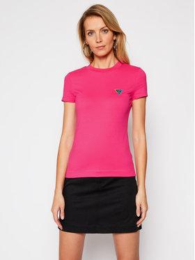 Guess Guess T-Shirt Mini Triangle W1RI04 J1311 Różowy Slim Fit