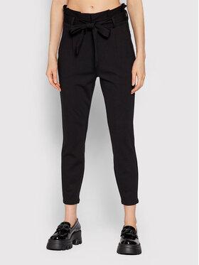 Vero Moda Vero Moda Текстилни панталони Eva 10205932 Черен Relaxed Fit