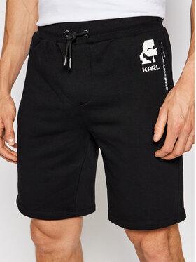 KARL LAGERFELD KARL LAGERFELD Pantaloni scurți sport 705004 511900 Negru Regular Fit