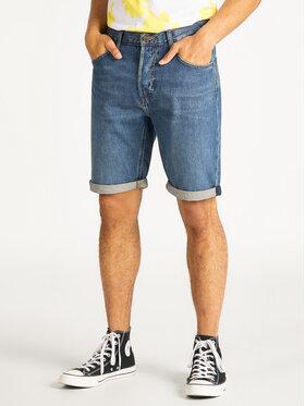 Lee Lee Szorty jeansowe 5Pocket L73ELJGJ Niebieski Regular Fit