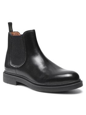 Gino Rossi Gino Rossi Kotníková obuv s elastickým prvkem MI08-C878-877-07 Černá