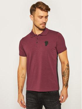 KARL LAGERFELD KARL LAGERFELD Тениска с яка и копчета 745 019 502 221 Виолетов Regular Fit