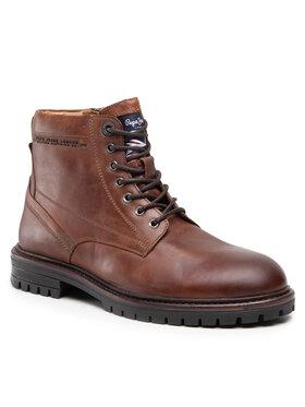 Pepe Jeans Pepe Jeans Turistická obuv Ned Boot Lth PMS50210 Hnědá
