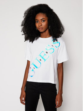 Guess Guess Tricou Sybella Tee W0BI91 I3Z00 Alb Relaxed Fit