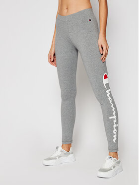 Champion Champion Legginsy Large Script Logo 112857 Szary Athletic Fit
