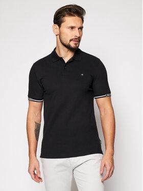 Calvin Klein Calvin Klein Tricou polo Logo Cuff K10K107148 Negru Slim Fit