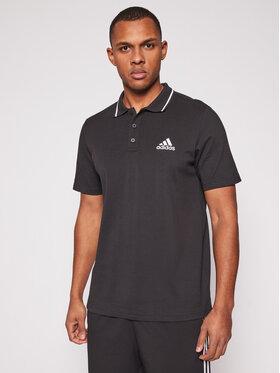 adidas adidas Polo marškinėliai M Sl Pq Ps GK9027 Juoda Regular Fit