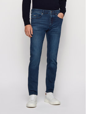 Boss Boss Jeansy Tapered Fit Taber BC-P 50438839 Tamsiai mėlyna Tapered Fit