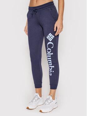 Columbia Columbia Spodnie dresowe Logo 1940094 Granatowy Active Fit
