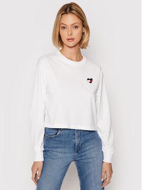 Tommy Jeans Tommy Jeans Bluza Tjw Homespun Heart DW0DW10358 Biały Boxy Fit