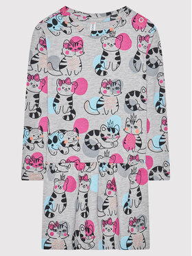 Coccodrillo Coccodrillo Φόρεμα καθημερινό ZC1129102MEO Γκρι Regular Fit