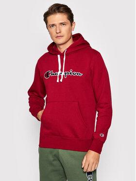 Champion Champion Bluza Script Logo 216470 Bordowy Comfort Fit