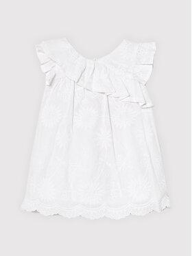 Mayoral Mayoral Елегантна рокля 1990 Бял Regular Fit