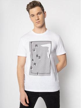 Trussardi Trussardi Marškinėliai 52T00304 Balta Regular Fit
