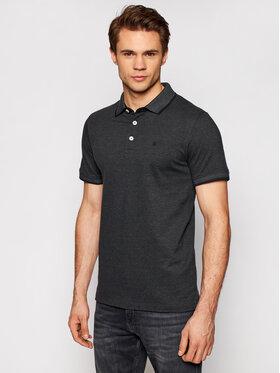 Jack&Jones Jack&Jones Тениска с яка и копчета Paulos 12136668 Черен Slim Fit