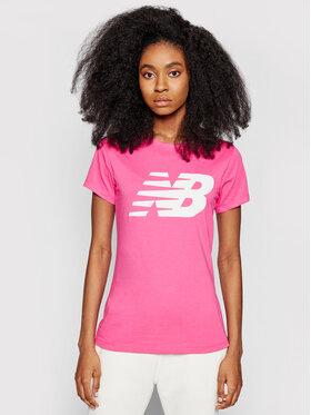 New Balance New Balance Póló Classic Flying Nb Graphic Tee WT03816 Rózsaszín Athletic Fit