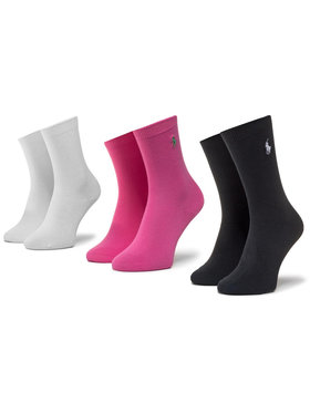 Polo Ralph Lauren Polo Ralph Lauren Комплект 3 чифта дълги чорапи детски 448803239001 Розов