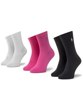 Polo Ralph Lauren Polo Ralph Lauren Sada 3 párů dětských vysokých ponožek 448803239001 Růžová