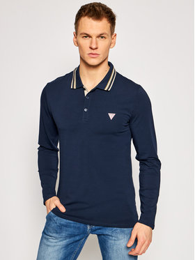 Guess Guess Polo M1RP36 J1311 Granatowy Extra Slim Fit