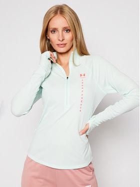 Under Armour Under Armour Techniniai marškinėliai Ua Speed Stride Attitude 1/2 Zip 1356218 Žalia Slim Fit