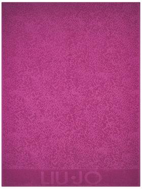 Liu Jo Liu Jo Ręcznik Telo Spugna Jacquar VA0206 T0300 Różowy