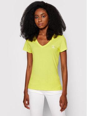 Calvin Klein Jeans Calvin Klein Jeans T-Shirt Monogram J20J217166 Żółty Slim Fit