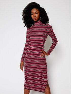 TOMMY HILFIGER TOMMY HILFIGER Úpletové šaty Metallic WW0WW29375 Růžová Slim Fit
