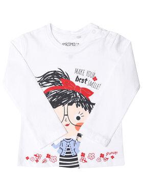 Primigi Primigi Bluză Shopping Time 45211502 Alb Regular Fit