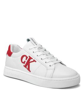 Calvin Klein Jeans Calvin Klein Jeans Sneakers Cupsole Laceup Sneaker Logo YM0YM00285 Blanc