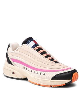 Tommy Jeans Tommy Jeans Sneakersy Heritage Runner EN0EN01513 Beżowy