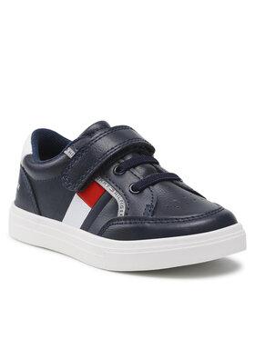 Tommy Hilfiger Tommy Hilfiger Sneakersy Low Cut Lace T1B4-32038-0754Y S Granatowy