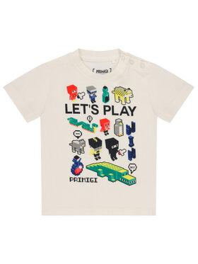 Primigi Primigi T-Shirt Game Player 45221012 Biały Regular Fit