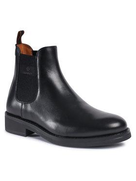 Gant Gant Členková obuv s elastickým prvkom Brookly 21651011 Čierna