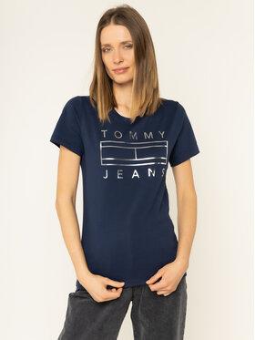 Tommy Jeans Tommy Jeans T-Shirt Metallic Logo DW0DW07158 Σκούρο μπλε Regular Fit