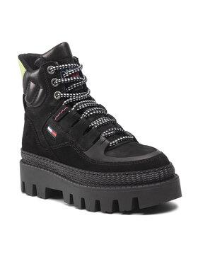 Tommy Jeans Tommy Jeans Botki Hybrid Boot EN0EN01596 Czarny