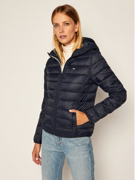 Tommy Jeans Tommy Jeans Pūkinė striukė Hooded Quilted Zip DW0DW08672 Tamsiai mėlyna Slim Fit